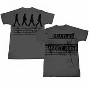 Picture of Beatles T-Shirt: The Beatles Brick Abbey Road in Charcoal