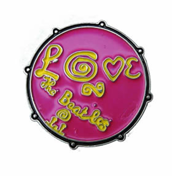 """Picture of Beatles Pin: The Beatles """"Love"""" pink pin"""