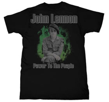 Picture of Beatles T-Shirt: John Lennon A Revolution Army Fatigue