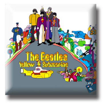 """Picture of Beatles Pin: The Beatles """"Yellow Submarine """" flat pin"""