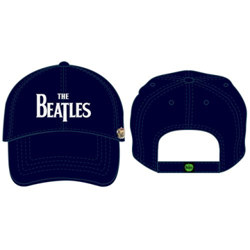 Picture of Beatles Cap: The Beatles Drop T Logo Distressed (Dark Blue)