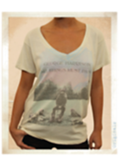 Picture of Beatles T-Shirt: Women's George Harrison Classic Large - Jrs/Ladies