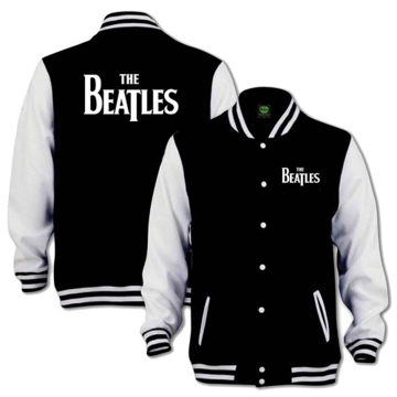 Picture of Beatles Mens Varsity Jacket: Drop T Logo