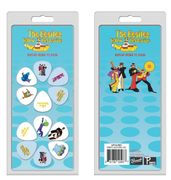Picture of Beatles Guitar Picks : Yellow Submarine 12 Pack