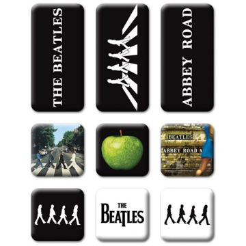Picture of Beatles Magnets: Collectible: Abbey Road Set of 9 Magnets