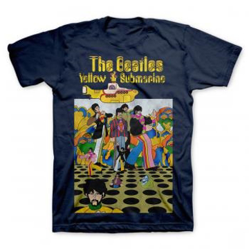 Picture of Beatles Adult T-Shirt: Yellow Submarine in the Navy