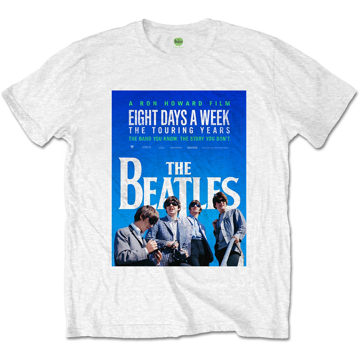 Picture of Beatles Adult T-Shirt: Eight Days a Week Movie Poster - White